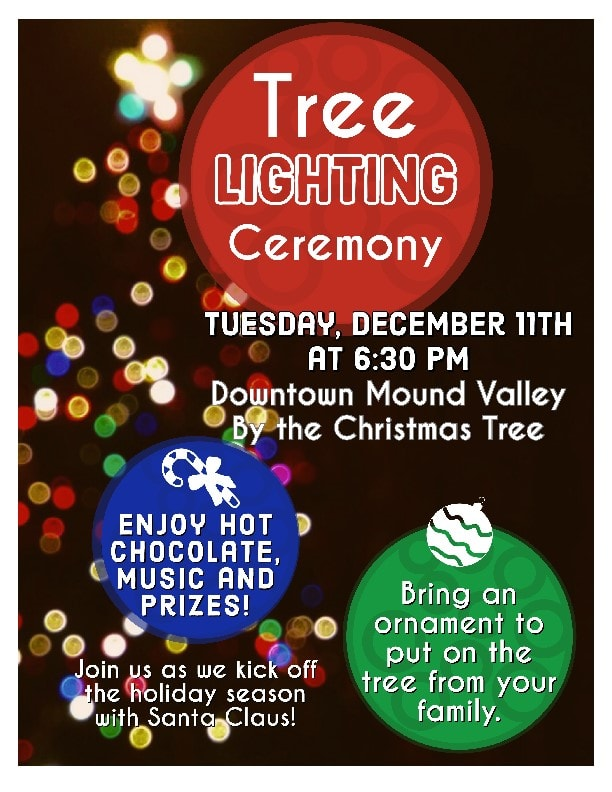 Mound Valley Tree Lighting Ceremony